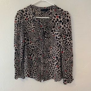 Sanctuary animal print peasant top